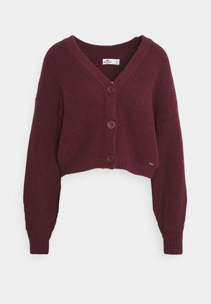 BURG CROP  - Cardigan - burgundy