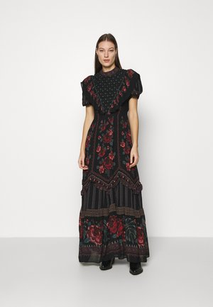 EMBROIDERED FLORAL MAXI DRESS - Maxi dress - multi