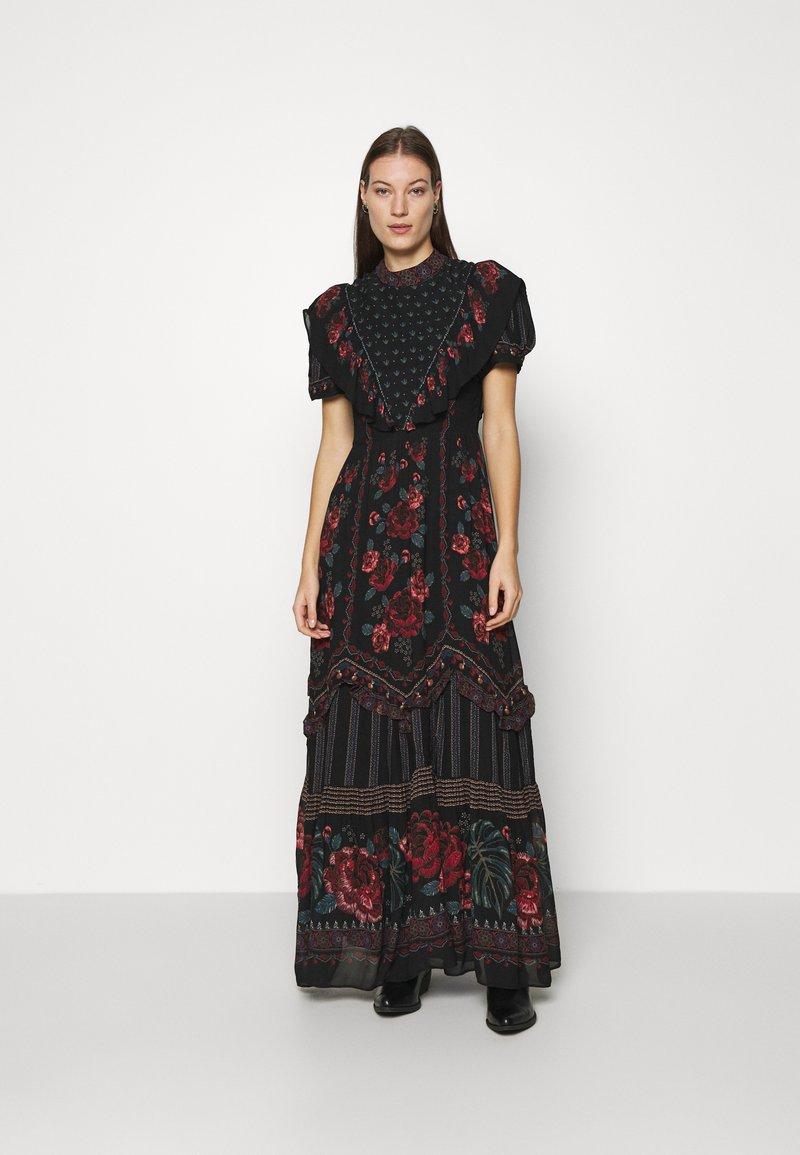 Farm Rio - EMBROIDERED FLORAL MAXI DRESS - Maxi dress - multi