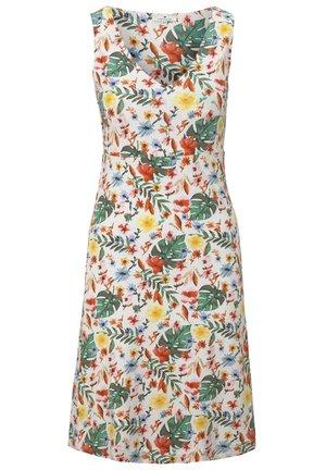Jersey dress - white watercolor flower design