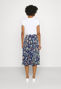 Lauren Ralph Lauren - DRAPEY SKIRT - A-line skirt - blue/multi - 2