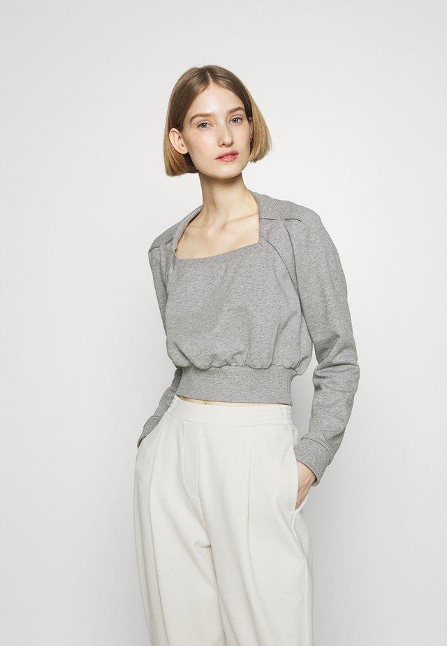 SQUARE NECK FRENCH TERRY - Sweatshirt - grey melange