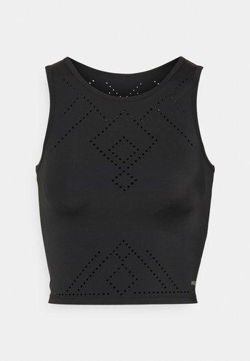 TANK CROP NAIRA - Top - black