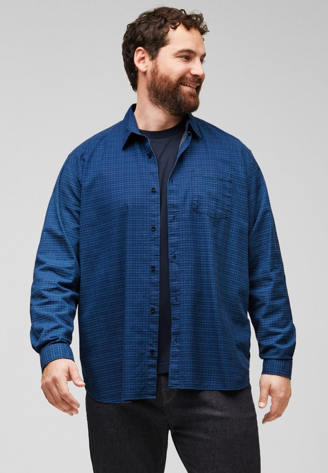 REGULAR FIT - Shirt - dark blue check
