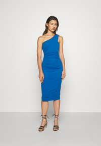 WAL G. - GRACE RUCHED DRESS - Jersey dress - royal blue - 0