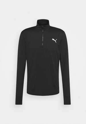 RUN FAVORITE 1/4 ZIP - Sports shirt - puma black