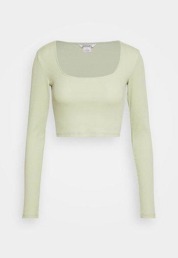 Langarmshirt - green dusty light