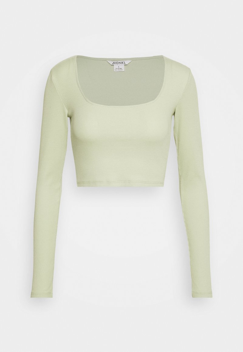 Monki - ALBA  - Camiseta de manga larga - green dusty light