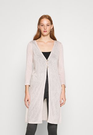 BUTTON CARDIGAN - Cardigan - stone