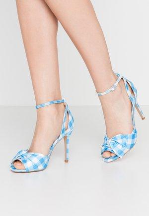 LIBERTY - Sandály na vysokém podpatku - blue