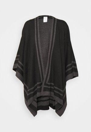 STRPED RUANA PONCHO - Cape - black/charcoal
