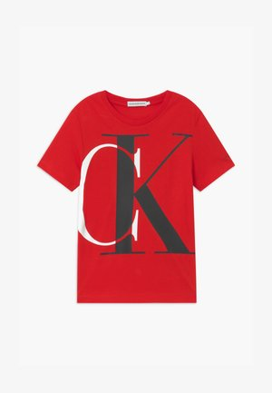 EXPLODED MONOGRAM - Print T-shirt - red