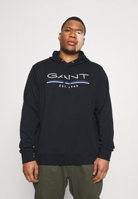 GANT - HOODIE - Sweatshirt - black - 0