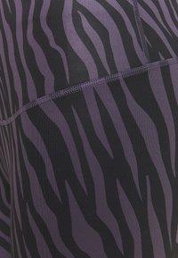 Nike Performance - ONE 7/8  - Leggings - dark raisin/white - 2