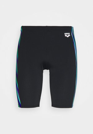 SPEED STRIPES JAMMER - Swimming trunks - black/multi green