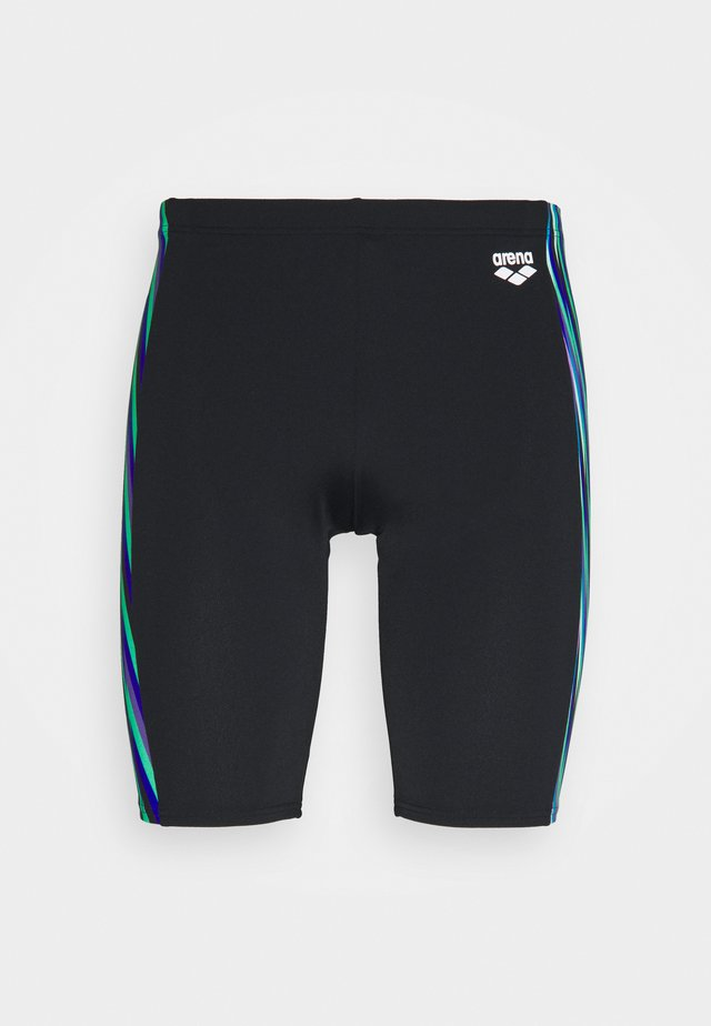SPEED STRIPES JAMMER - Zwemshorts - black/multi green