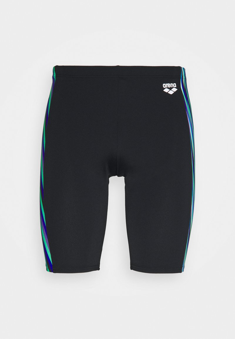 Arena - SPEED STRIPES JAMMER - Swimming trunks - black/multi green