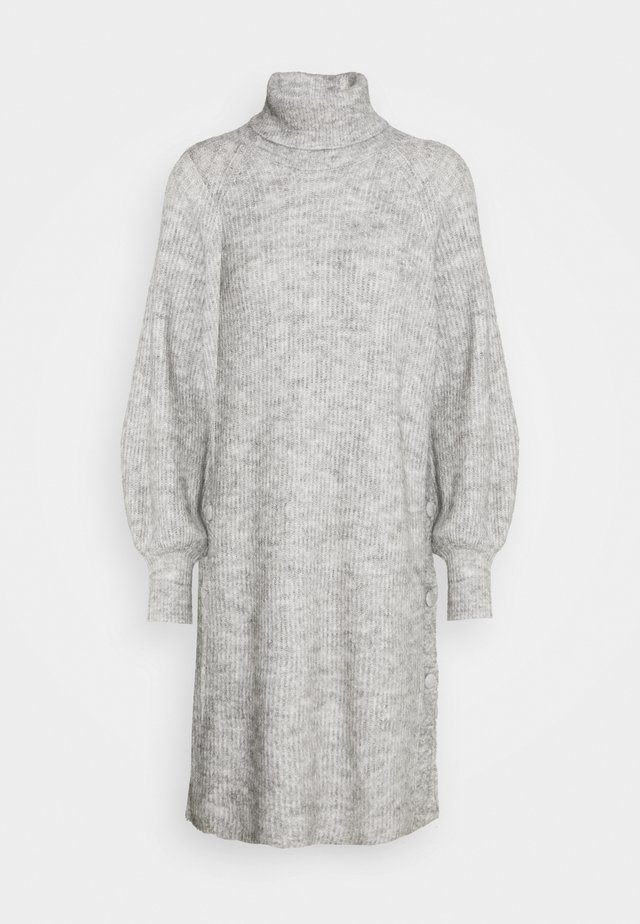 YASALLU ROLL NECK DRESS - Jumper dress - light grey melange