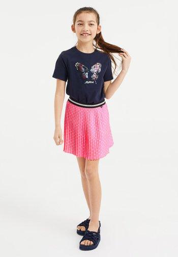 MEISJES  - Print T-shirt - dark blue