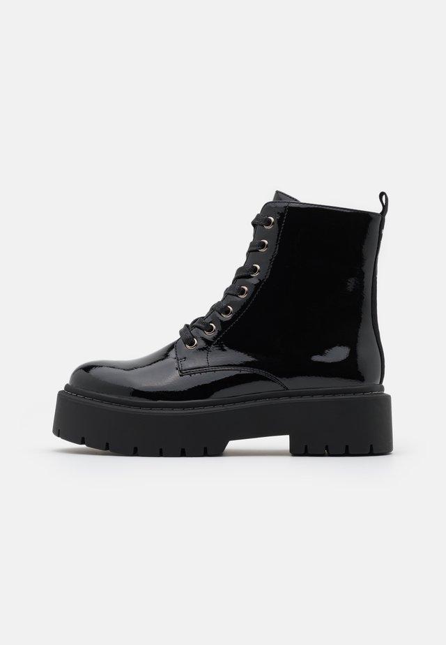 GAIA - Platform ankle boots - nero