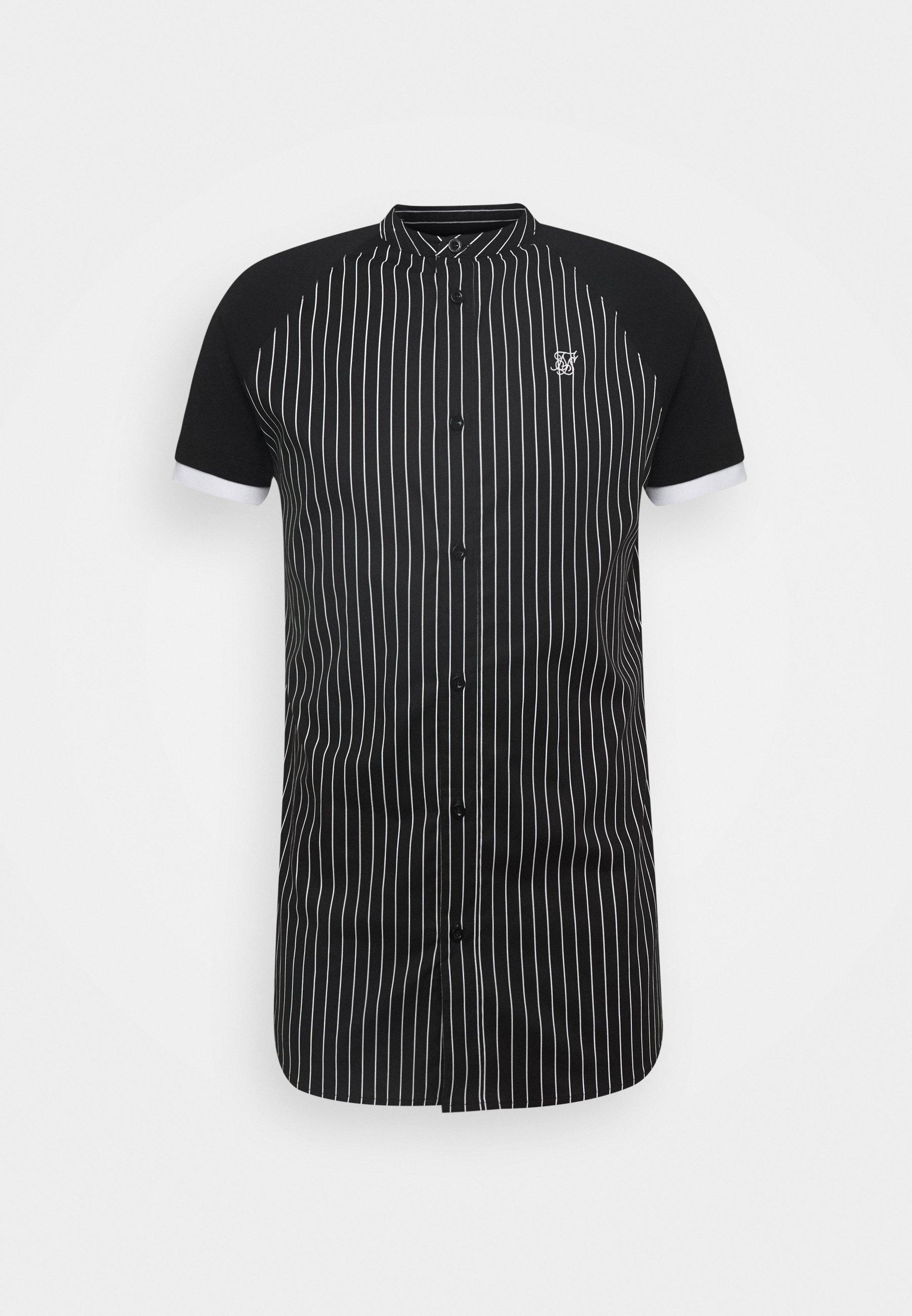 Siksilk Raglan Inset - Skjorte Black/white