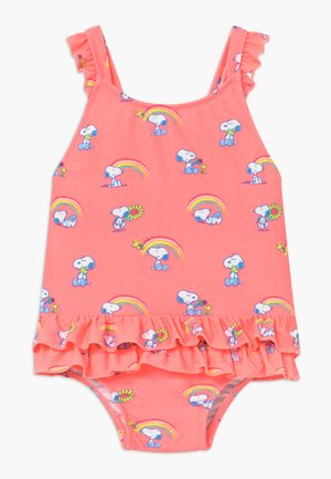 GIRLS PINK SNOOPY FRILL SWIMSUIT - Plavky - pink