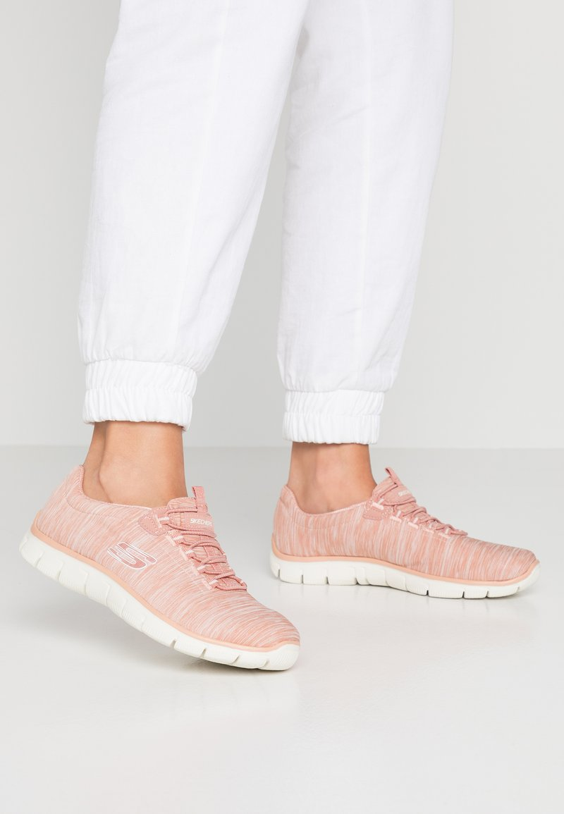 Skechers - EMPIRE SEE YA RELAXED FIT - Slip-ons - rose