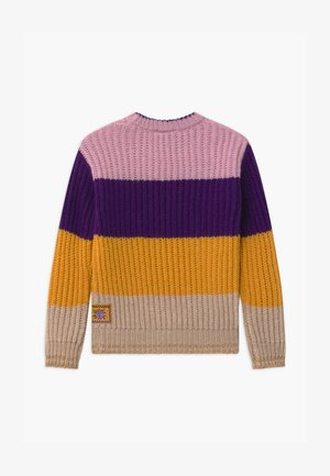 COLOUR BLOCK CREWNECK - Trui - purple/yellow