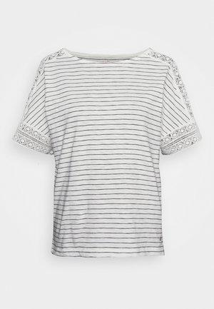 KURZARM - Print T-shirt - creme
