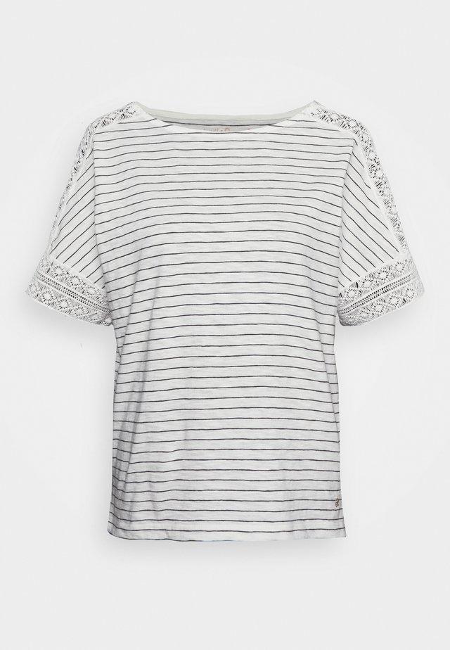 KURZARM - T-shirt imprimé - creme
