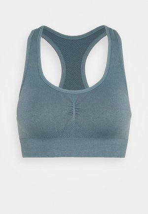 THE FLEX SEAMLESS - Light support sports bra - dark denim
