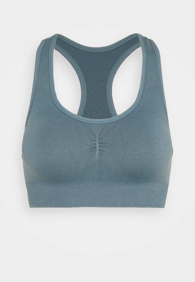 THE FLEX SEAMLESS - Light support sports bra - dark denim