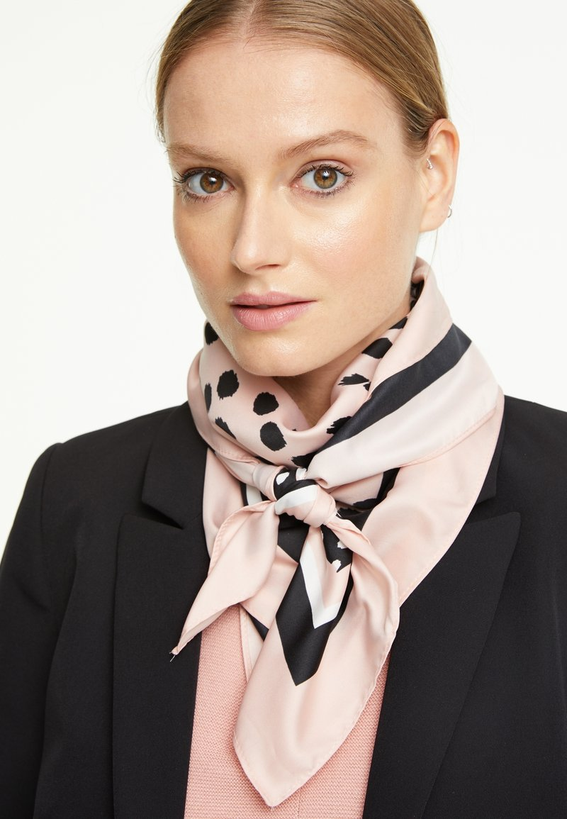 comma - Foulard - rosewood placed print