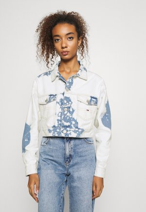 EXTRA CROPPED - Kurtka jeansowa - cloudy light blue rigid