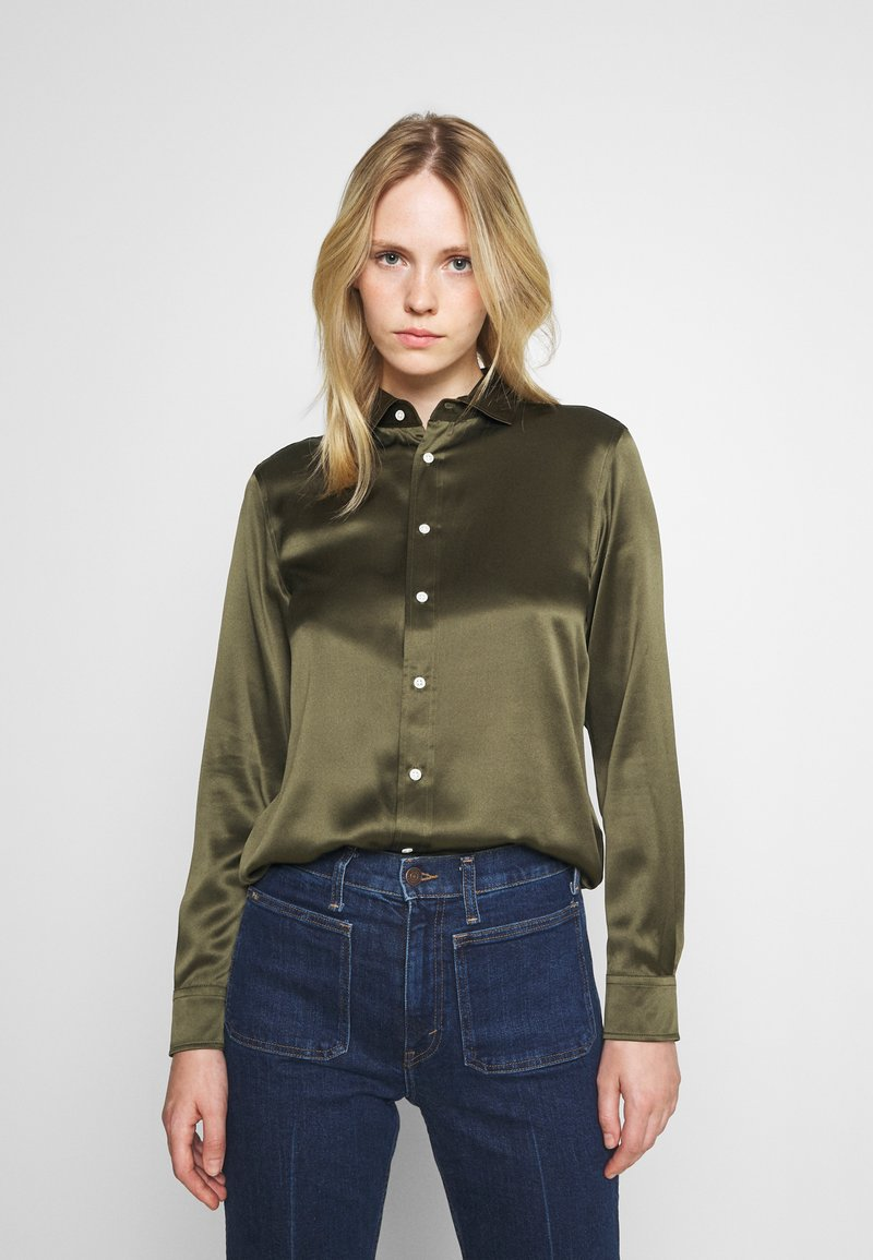 Polo Ralph Lauren - CHARMEUSE - Button-down blouse - expedition olive