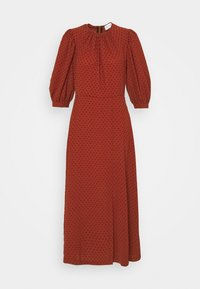 Closet - MIDI GATHERED NECK DRESS - Day dress - rust - 3