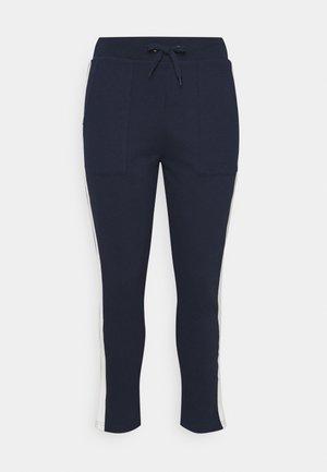 SIDE STRIPE  - Pantalon de survêtement - navy/ivory