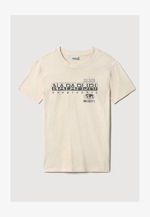 Print T-shirt - whitecap gray
