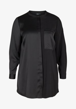 SOLID COLOURED  WITH BREAST POCKET - Chemisier - black