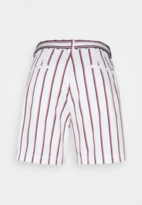 Tommy Hilfiger - STRIPED BERMUDA - Shorts - global/white - 1