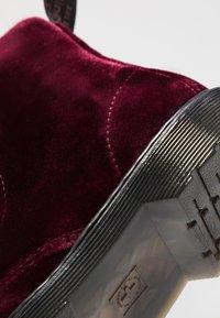 Dr. Martens - 1460 PASCAL VELVET - Šněrovací kotníkové boty - cherry red - 2