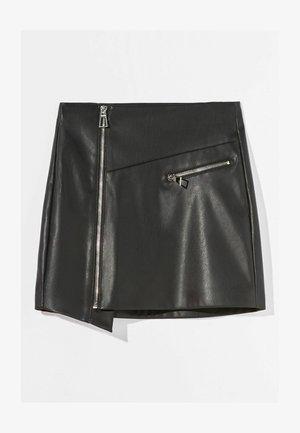 MIT REISSVERSCHLUSS - Wrap skirt - black