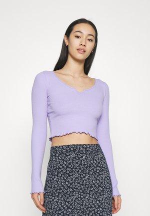 NOTCH NECK - Long sleeved top - purple