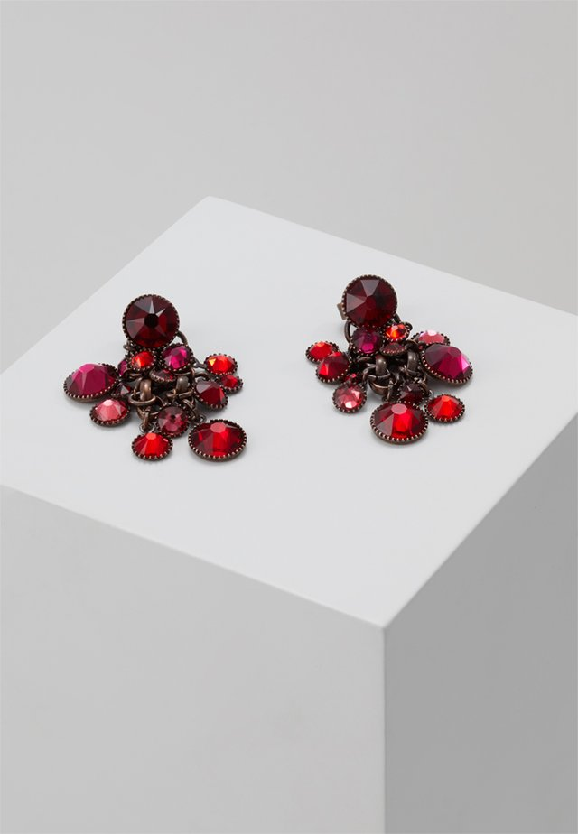 WATERFALLS - Earrings - red/dark rose dark