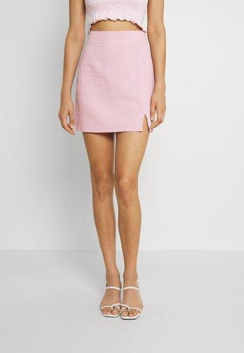 SPLIT MINI SKIRT - A-line skirt - pink
