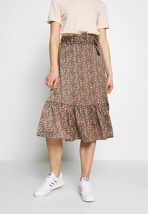 YASSIERRA MIDI SKIRT  - A-line skirt - black/sierra