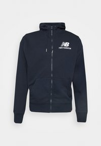 New Balance - ESSENTIALS STACKED FULL ZIP HOODIE - Zip-up hoodie - eclipse - 0