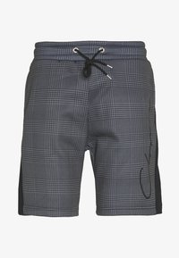 CLOSURE London - PANELLED CHECKERED SCRIPT  - Träningsbyxor - charcoal - 0