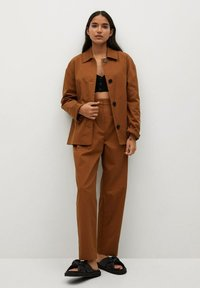 Mango - Trousers - bruin - 1