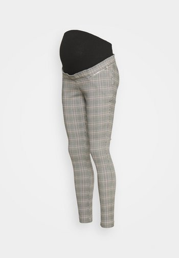 JESSICA CHECK BENGALINE  - Trousers - grey